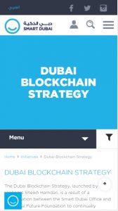 Dubai Bloockchain Strategy